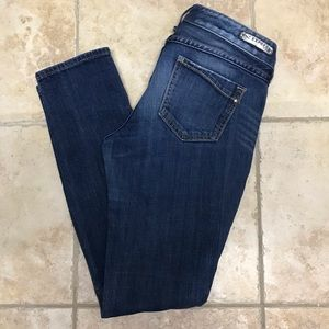 Express straight leg mid rise jeans